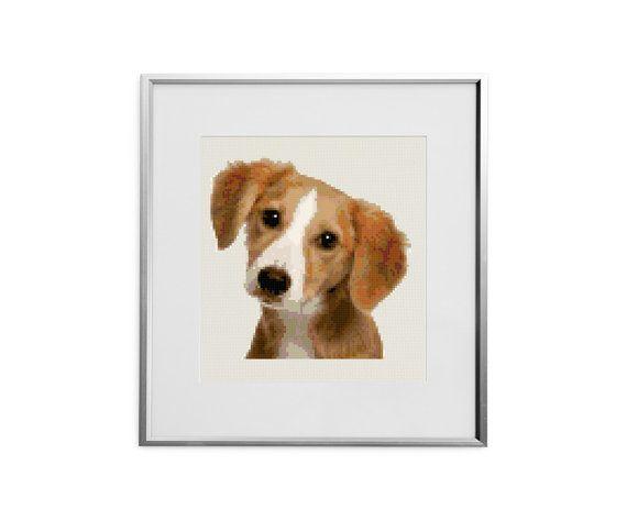 Puppy cross stitch pattern puppies chart modern by evascreation
