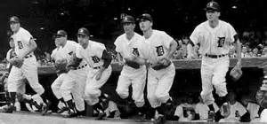 The 1958 Tigers take the field on Opening Day at The Corner, April ...
