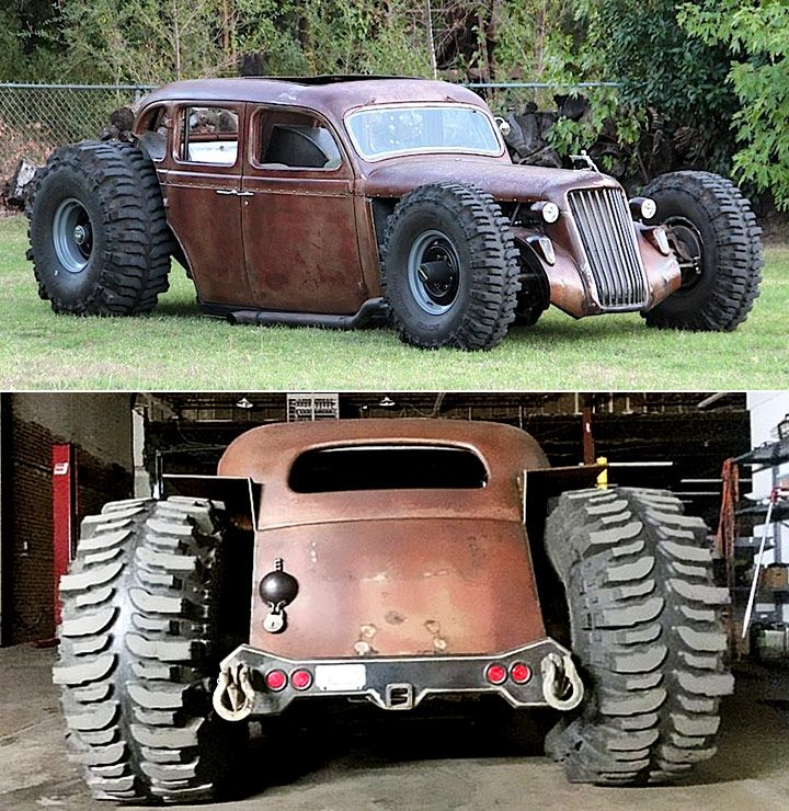 1935 #Dodge #4x4 #Rat Rod. The Meat On Those Tires... They
