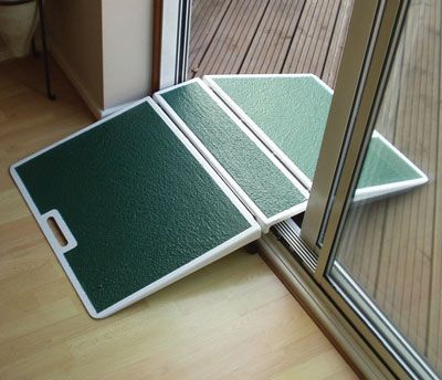 Folding two sided threshold ramp pinteres for Wheelchair accessible doorways