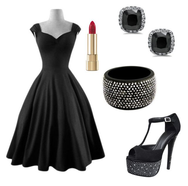 """Black and Bling"" by lorena-cuttler on Polyvore featuring Isolá and Dolce&Gabbana"