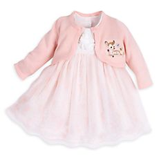 80758c74b Clothes | Disney Baby | Disney Store - Bambi baby girl dress & sweater set