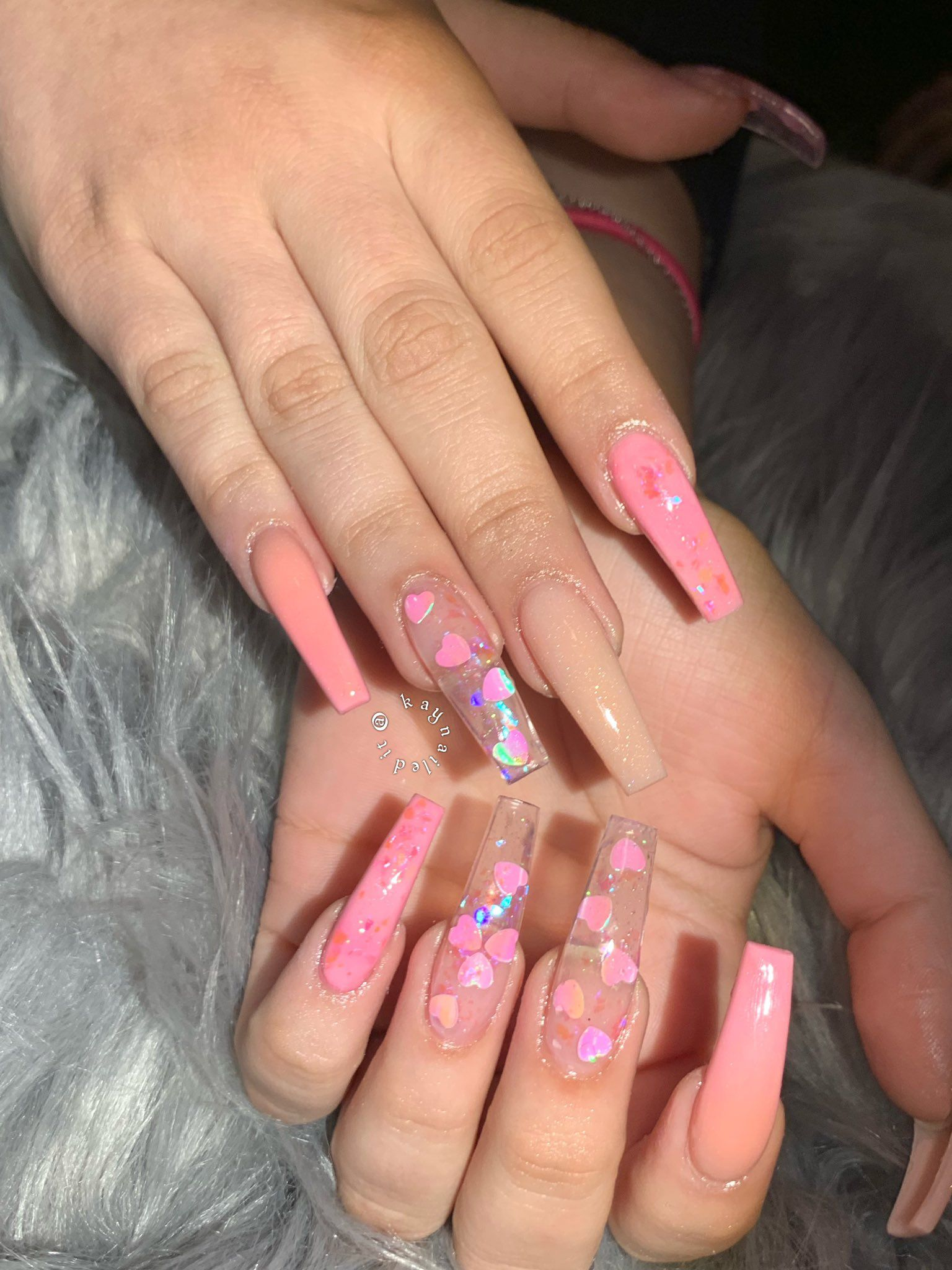 Kaytheenailtech On Twitter Pink Acrylic Nails Coffin Nails Designs Cute Acrylic Nails