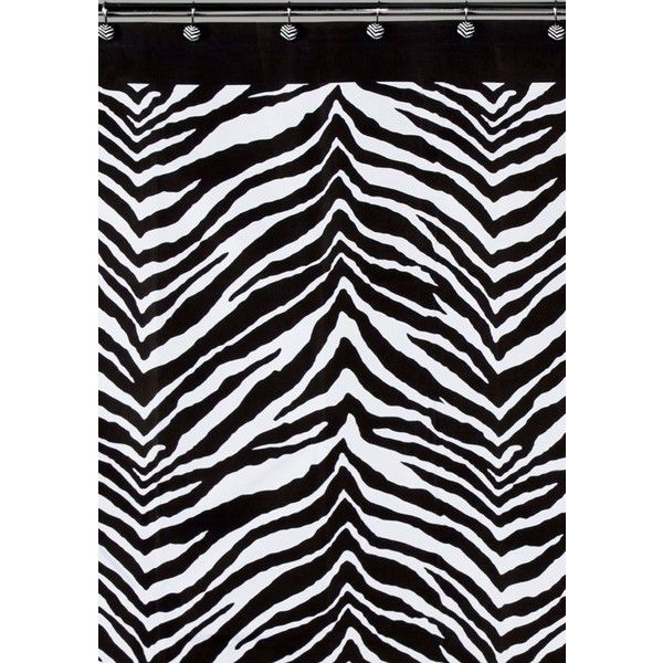 Creative Bath Zebra Shower Curtain ($27) ❤ liked on Polyvore ...