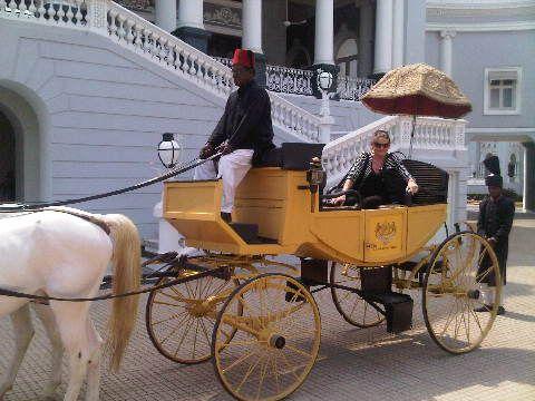 Arrival at Taj's Falaknuma Palace Hyderabad - see ...