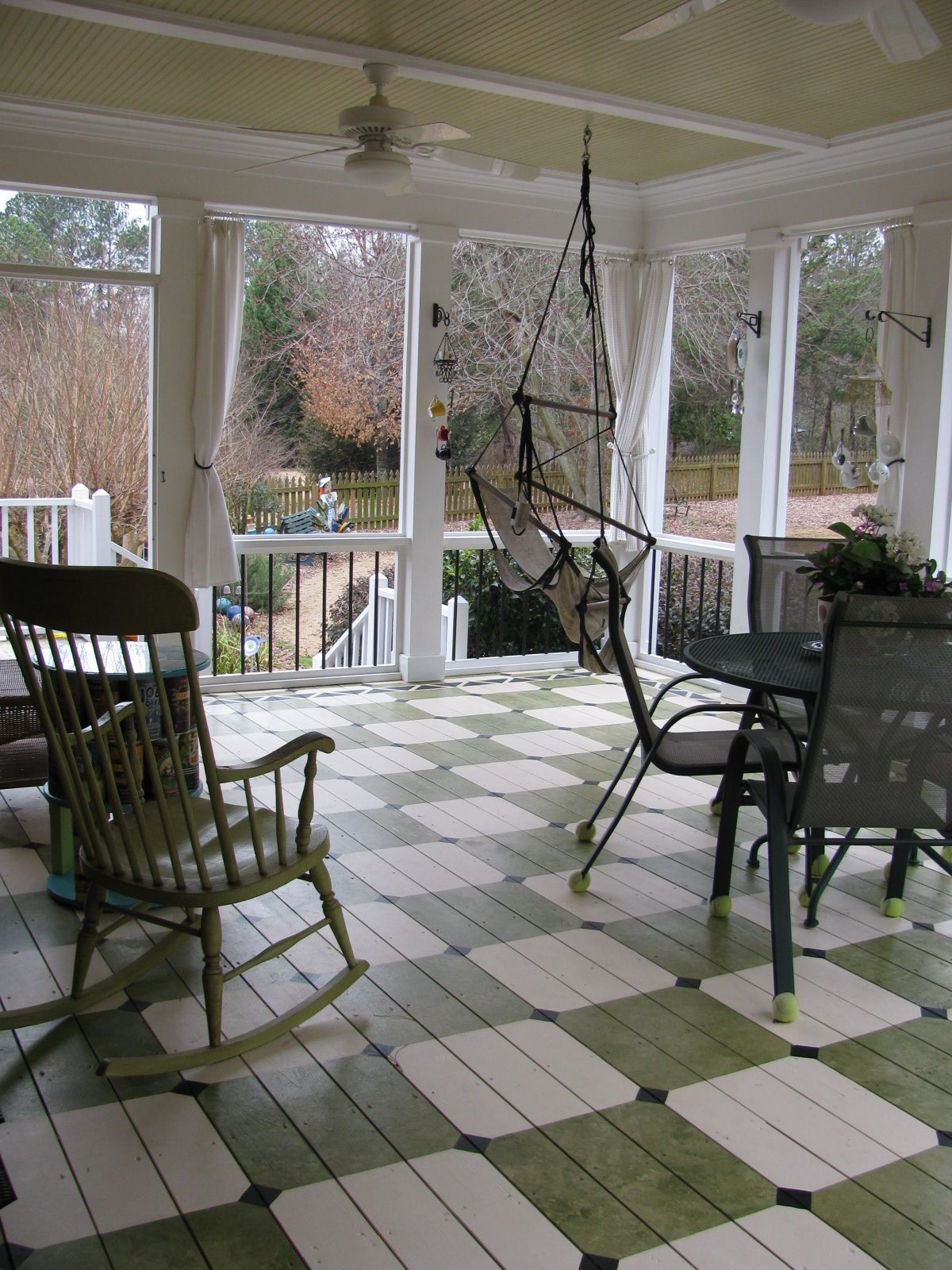 Love the pattern for the painted porch floor! Painted