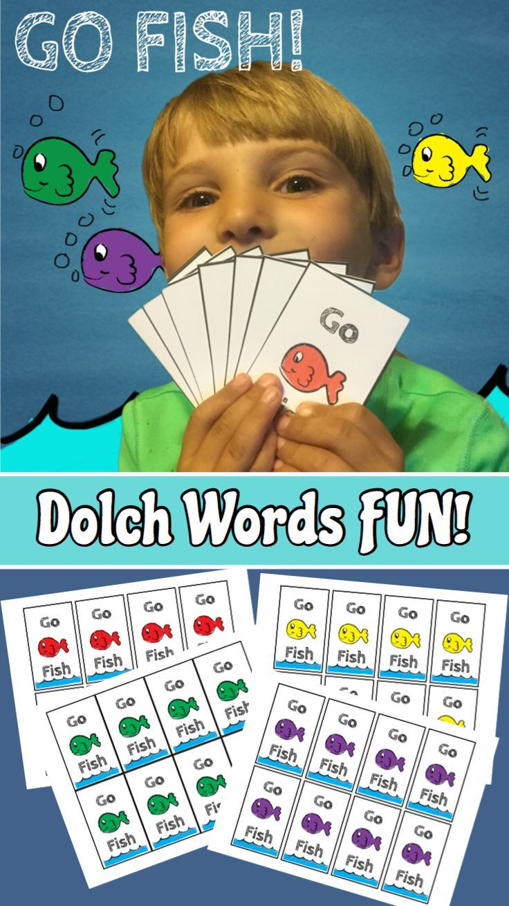 Go Fish Sight Words Game Sight word games, Literacy