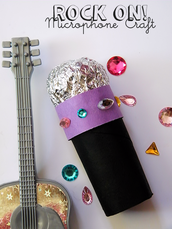 Cardboard Roll Sparkly Microphone Craft Crafts Diy At Our Kid