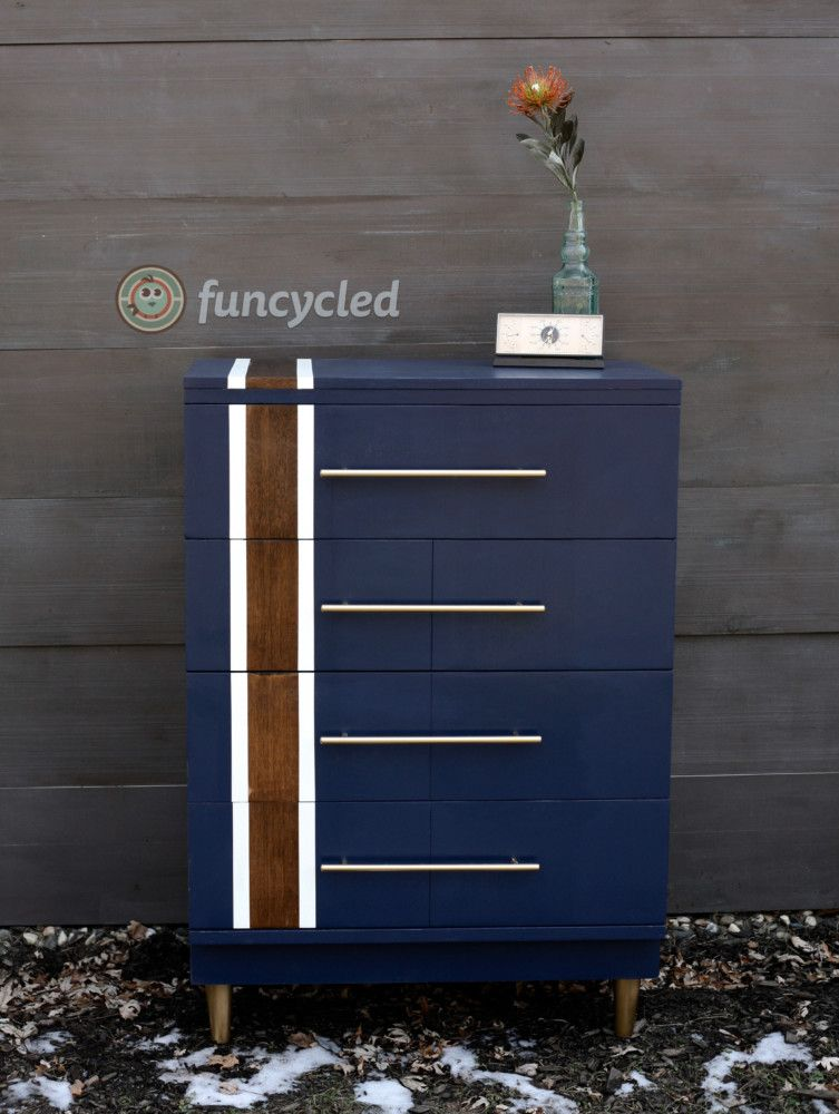 Navy Striped Dresser Set – Tuesdays Treasures