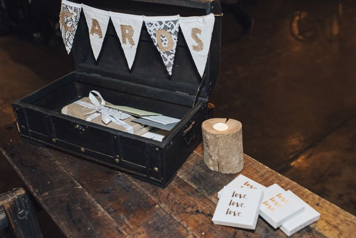 Wedding Card box idea | itakeyou.co.uk #wedding #rustic #rusticwedding #barnwedding #vineyardwedding #realwedding #weddingphotos