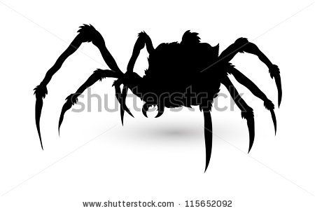 Spider Silhouette - stock vector