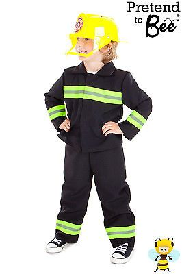 BOYS KIDS CHILDS CHILDRENS FIREMAN UNIFORM OUTFIT COSTUME SAM  AGE 3 4 5 6 7