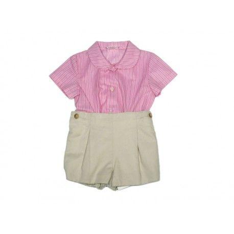 ba676baf13 Conjunto bebé beige rosa OUTLET www.tutiendaderopa.es www.pepaonline ...