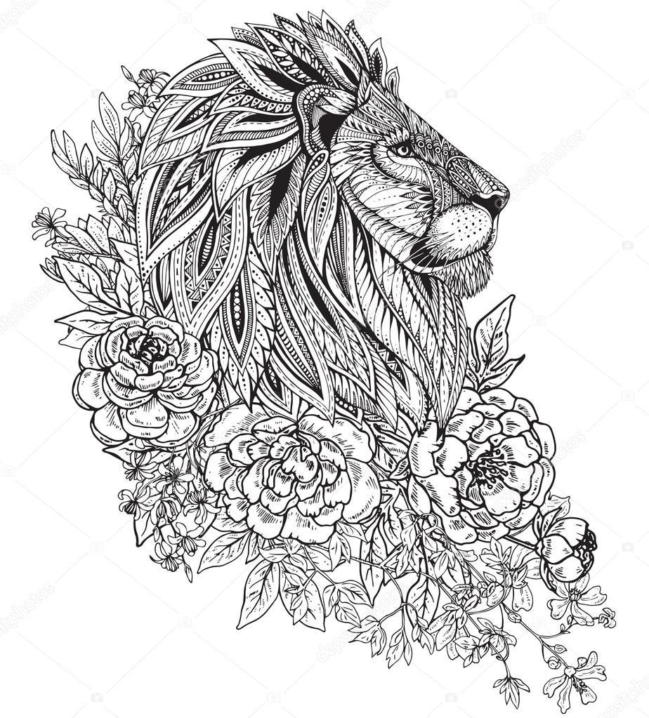Pin By Bea Bereau On Whatsu Mandala Lion Tattoo Lion Head Tattoos Animal Tattoos