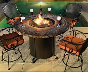 Gas burning fire pits quality fire pits backyard for Concreteworks fire table