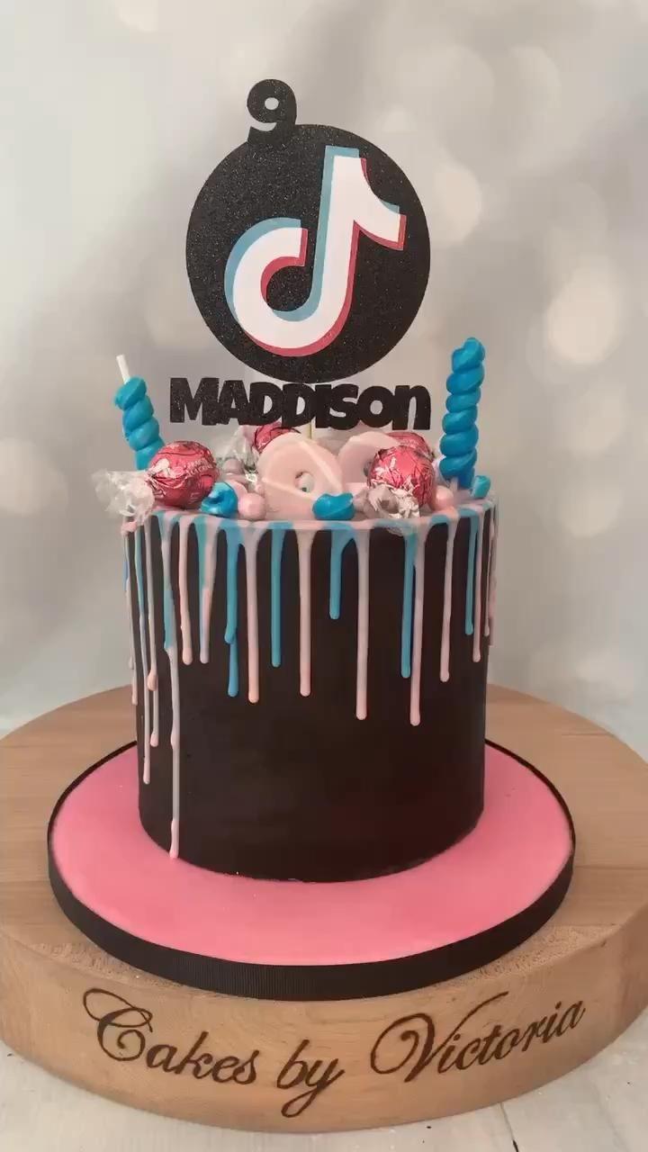 Tiktok Birthday Cake Candy Birthday Cakes Cool Birthday Cakes Cake Decorating Designs