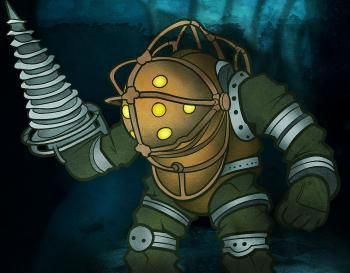 How To Draw Big Daddy Big Daddy Bioshock Step By Step Video Game Characters Pop Culture Free Online Drawing Tutorial Added By D Bioshock Big Daddy Daddy