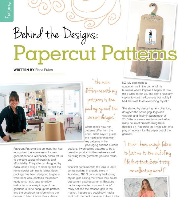 "Keep your eyes peeled for the April issue of UK based ""Sewing World"" (on  sale from March 15th).  There's a two page spread all about how I got  started.  Thanks Sewing World!"
