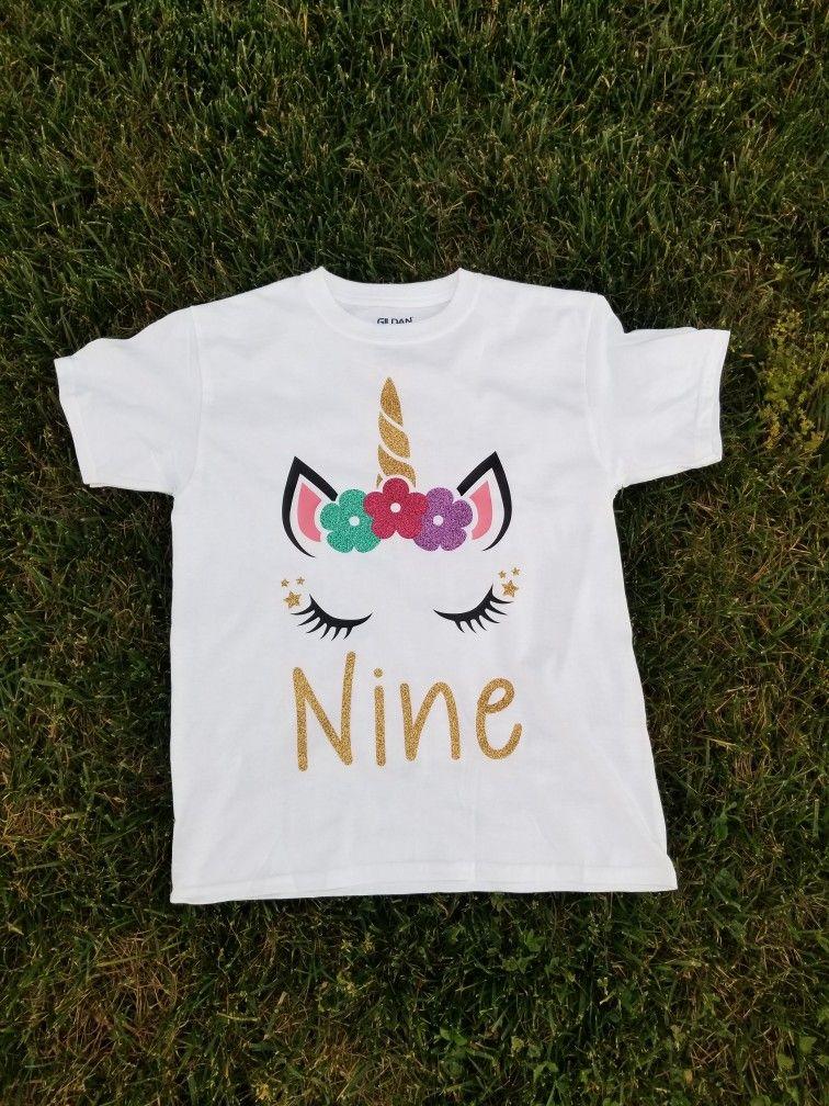 Unicorn Birthday Shirt Birthday shirts, T shirts for