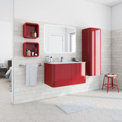 Leroy Merlin Catalogo Mobili Bagno.Mobile Bagno Liverpool Rosso L 94 Cm Bagno Arredamento Casa E