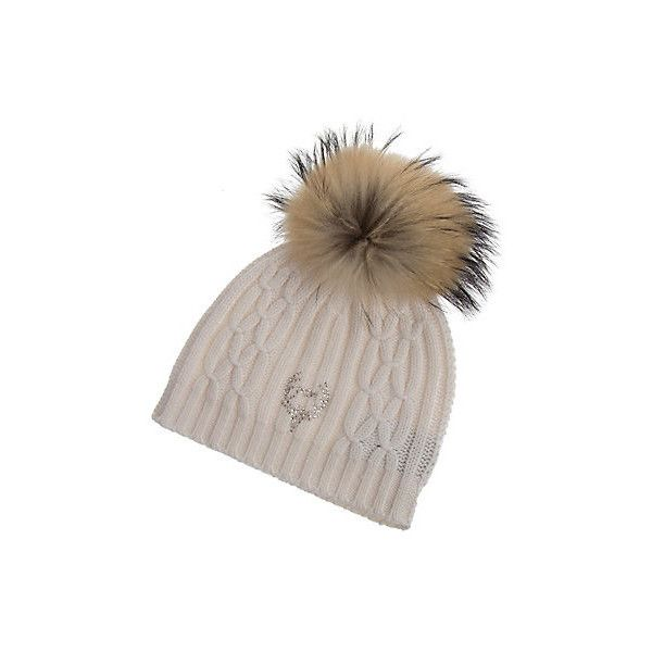 d3452ab99171f8 M. Miller Cashmere Cable Knit Hat with Detachable Raccoon Fur Pom (9,370  PHP)
