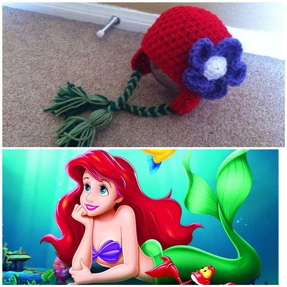Crochet Ariel The little Mermaid Inspired Beanie/Hat | Crochet to ...