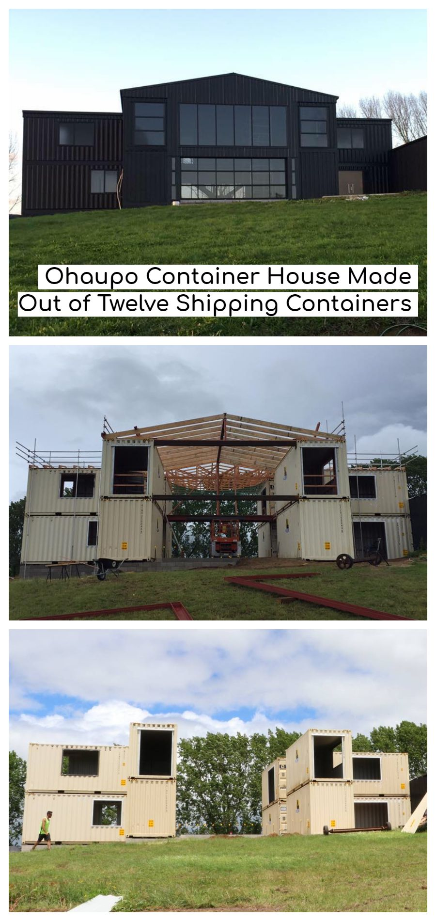 Photo of Ohaupo Container House Made Out of Twelve Shipping Containers – New Zealand