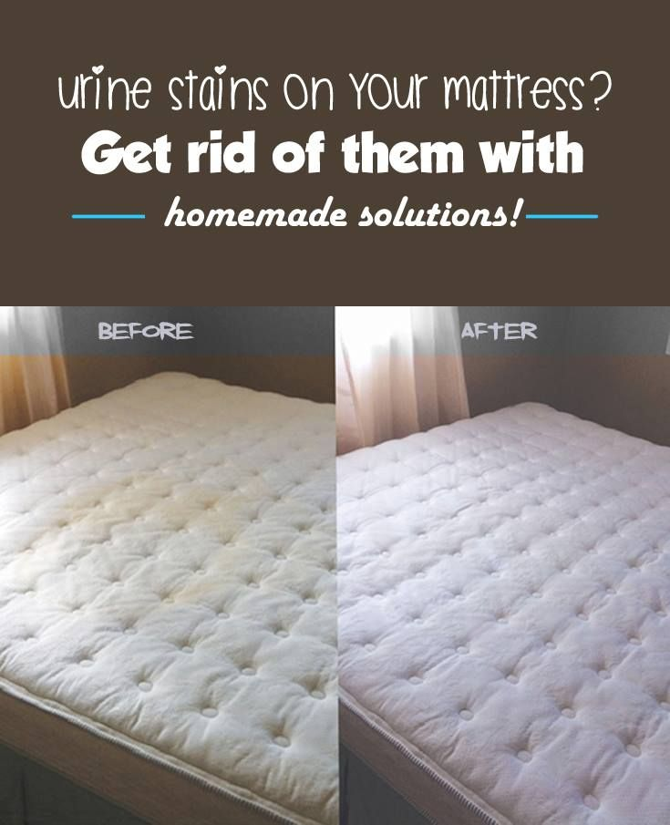 Urine stains on your mattress Get rid of them with homemade