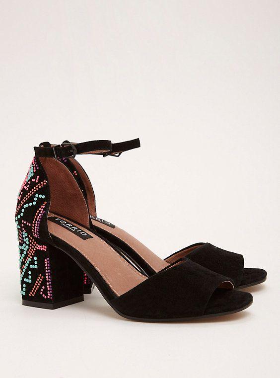 1e657ea3418 Collection Neon Beaded Block Heels (Wide Width)   SHOES!!   Heels ...
