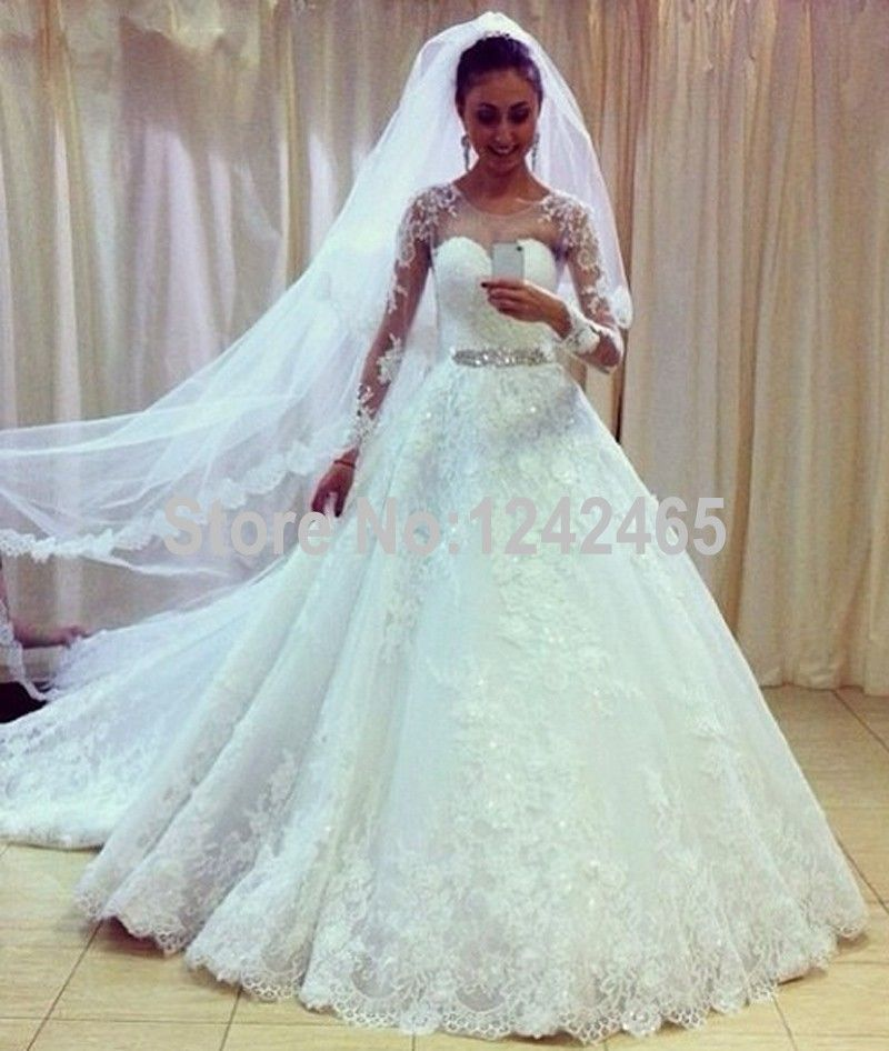Find More Wedding Dresses Information About White Puffy Long