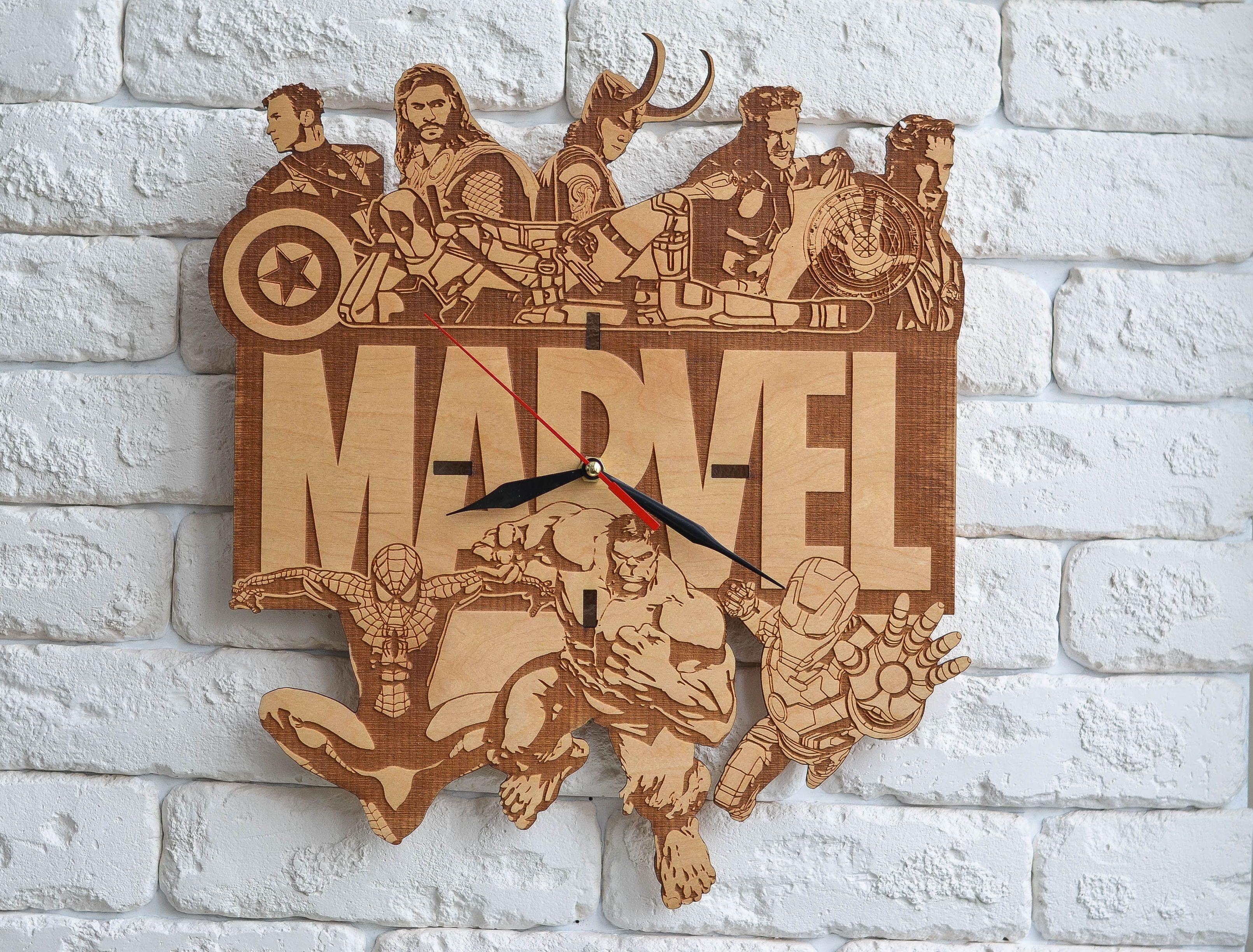 Marvel art clock marvel prints avengers art wall art decor wood marvel art clock marvel prints avengers art wall art decor wood wall clock legends legendary heroes amipublicfo Images