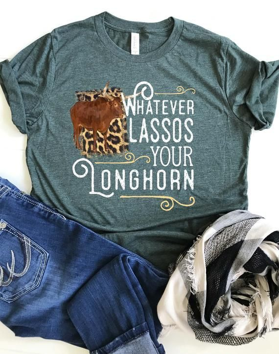 Rodeo Shirt, Whatever Lassos Your Longhorn, Western Cowgirl Shirt, Boho, Plus Size Available