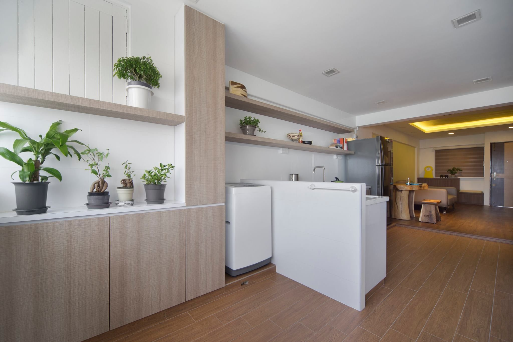 Need more space see how the designer manage to transform - 3 room hdb kitchen renovation design ...