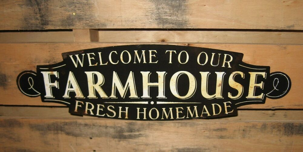 FARMHOUSE Wall SIGNPrimitive HomeFrench Country Kitchen DecorBlack  White