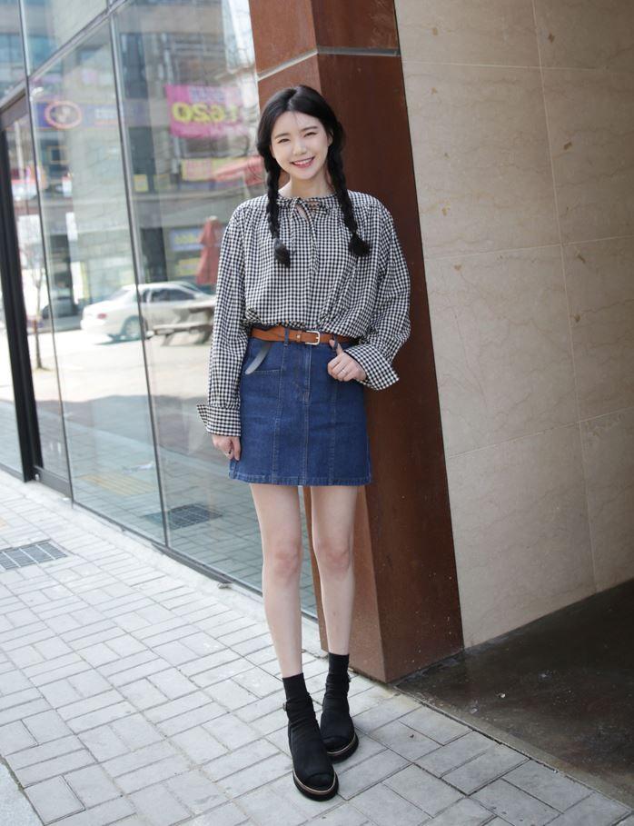 10's trendy style maker 66girls.us! Denim Patched Skirt  (DGQA) #66girls #kstyle #kfashion #koreanfashion #girlsfashion #teenagegirls #fashionablegirls #dailyoutfit #trendylook #globalshopping