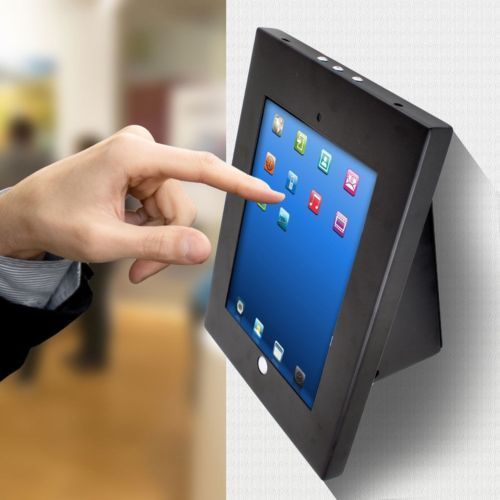 Ipad Pro Holder For Wall Or Counter Cc Reader Compatible Rotating Tilting Black Tablet Wall Mount Tablet Wall Mount