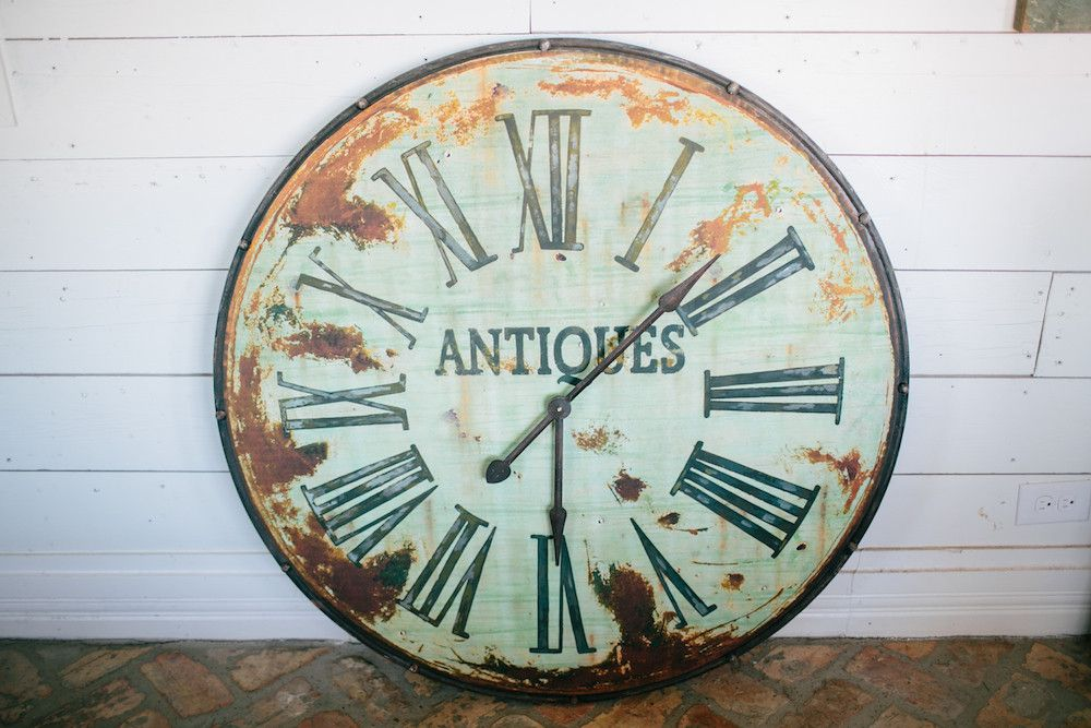 Antique Green Clock The Magnolia Market Love This Clock