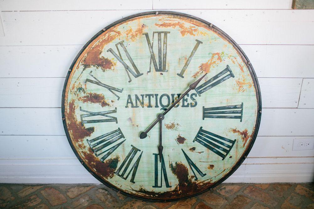 Antique Green Clock The Magnolia Market Love This Clock