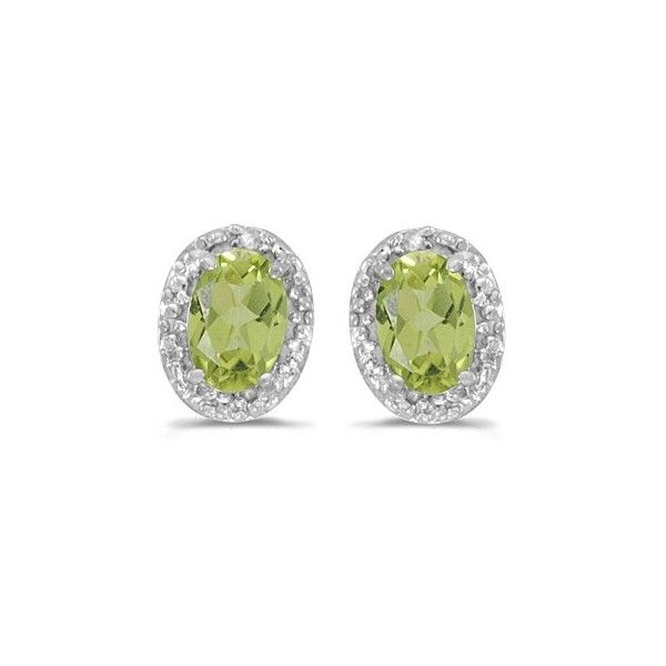Allurez Diamond and Perdiot Earrings 14k White Gold (1.10ct) (€275) ❤ liked on Polyvore featuring jewelry, earrings, 14 karat gold earrings, 14k stud earrings, 14 karat gold stud earrings, 14k white gold earrings and white gold stud earrings