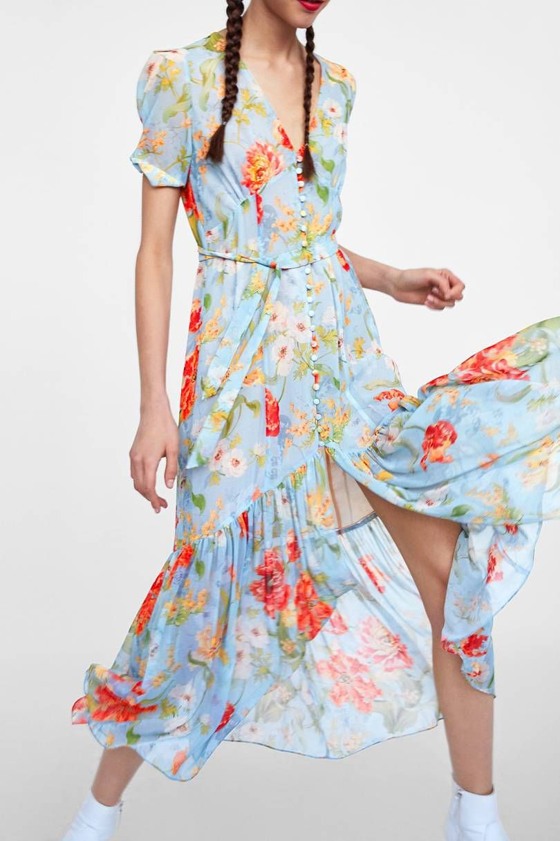 6fa8dad5ce8 Zara Floral Midi Dress  Will This Be The Most Popular Dress Of The Summer