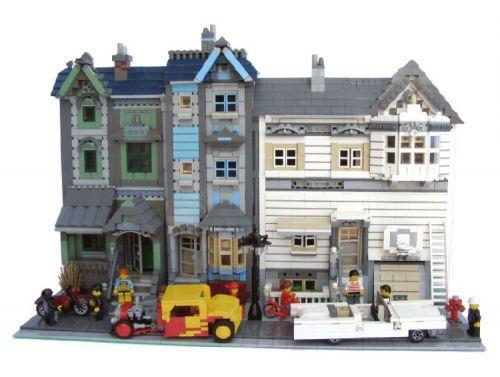 Retro Houses: A LEGO® creation by Hrvoje Majetich : MOCpages.com