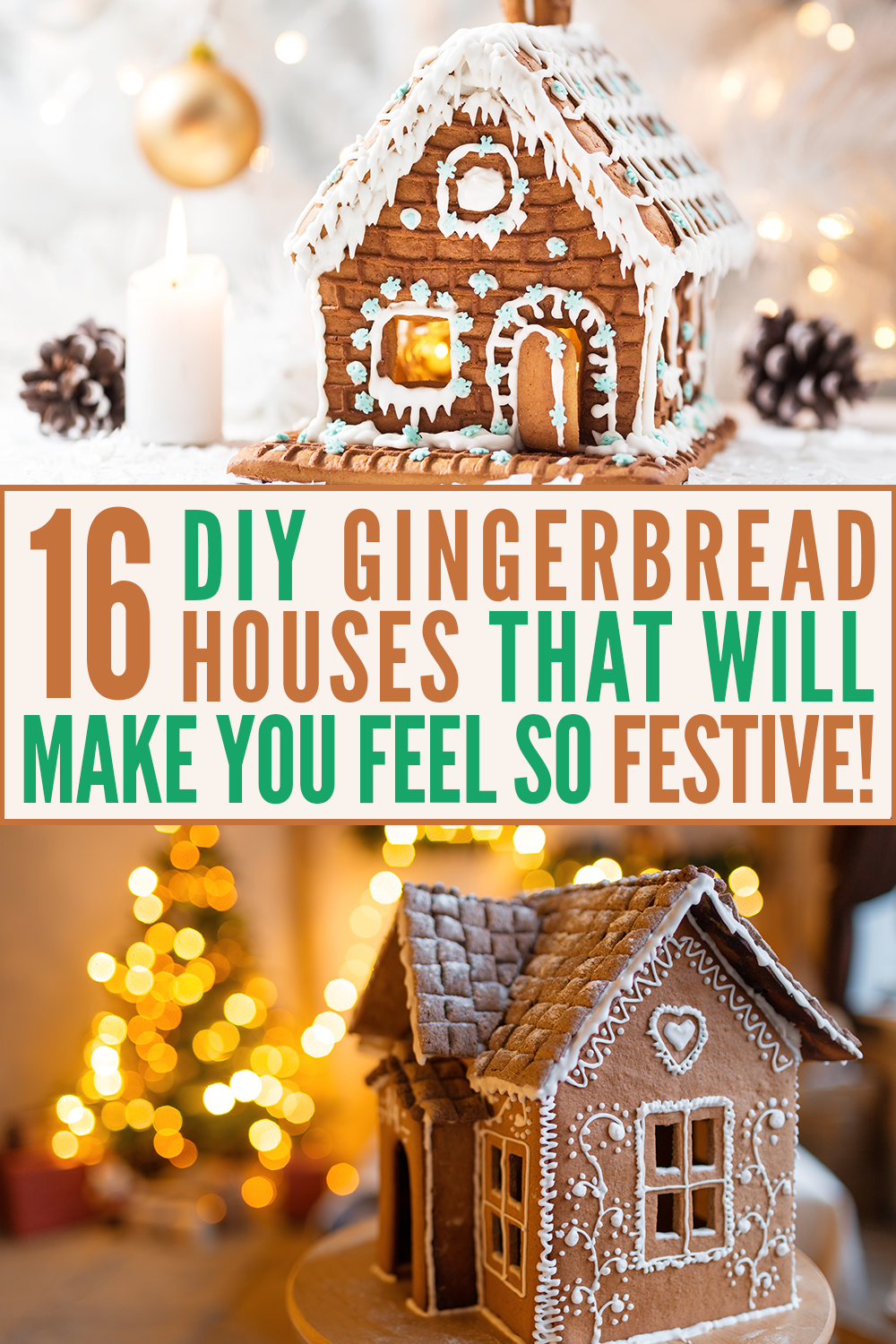 16 easy gingerbread houses that will make you feel more festive - Create Cozy #gingerbreadhousetemplate