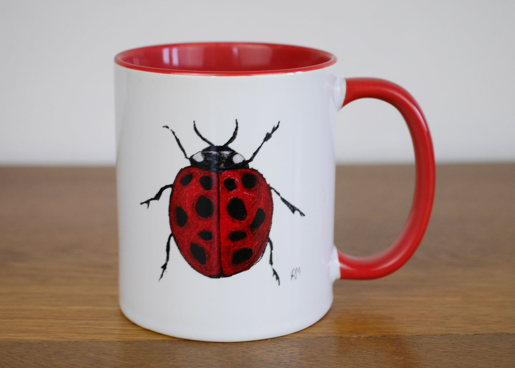 Ladybird Mug For Insect Cup Ceramic WED9I2YeH