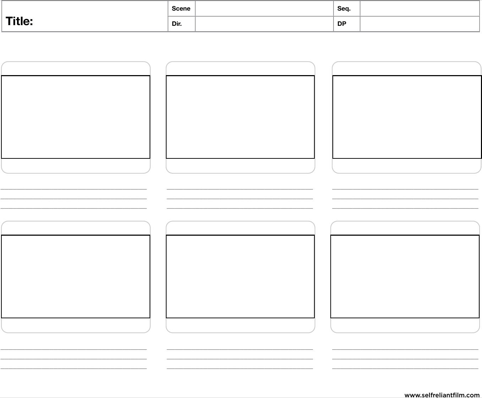 Storyboard Template Templatesforms Pinterest Storyboard