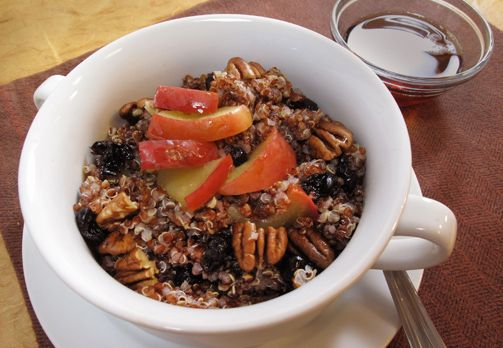 Breakfast Quinoa: With just a little prep the night before, this recipe makes it easy to wake up to a warm, delicious breakfast. Lighter than oatmeal and packed with complete protein, quinoa will give you sustained energy for the day
