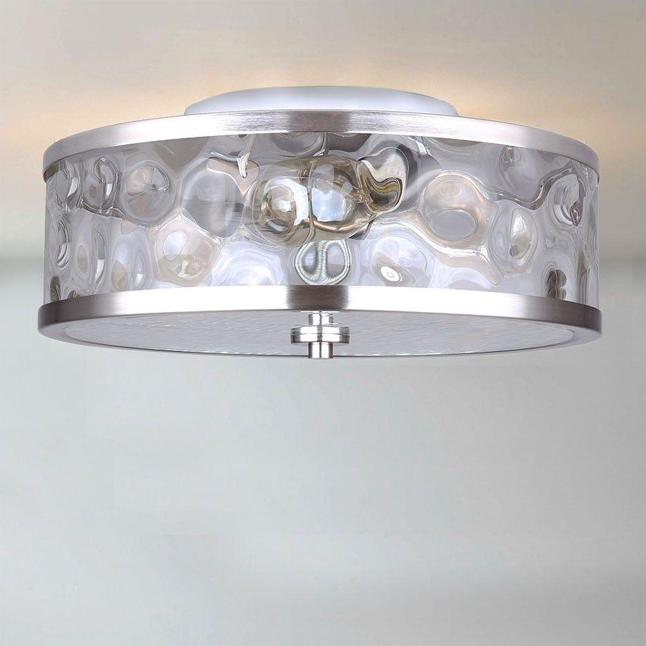 CANARM IFM677A15BN Cala 3 Bulb Flushmount, Brushed Nickel | Nickel ...