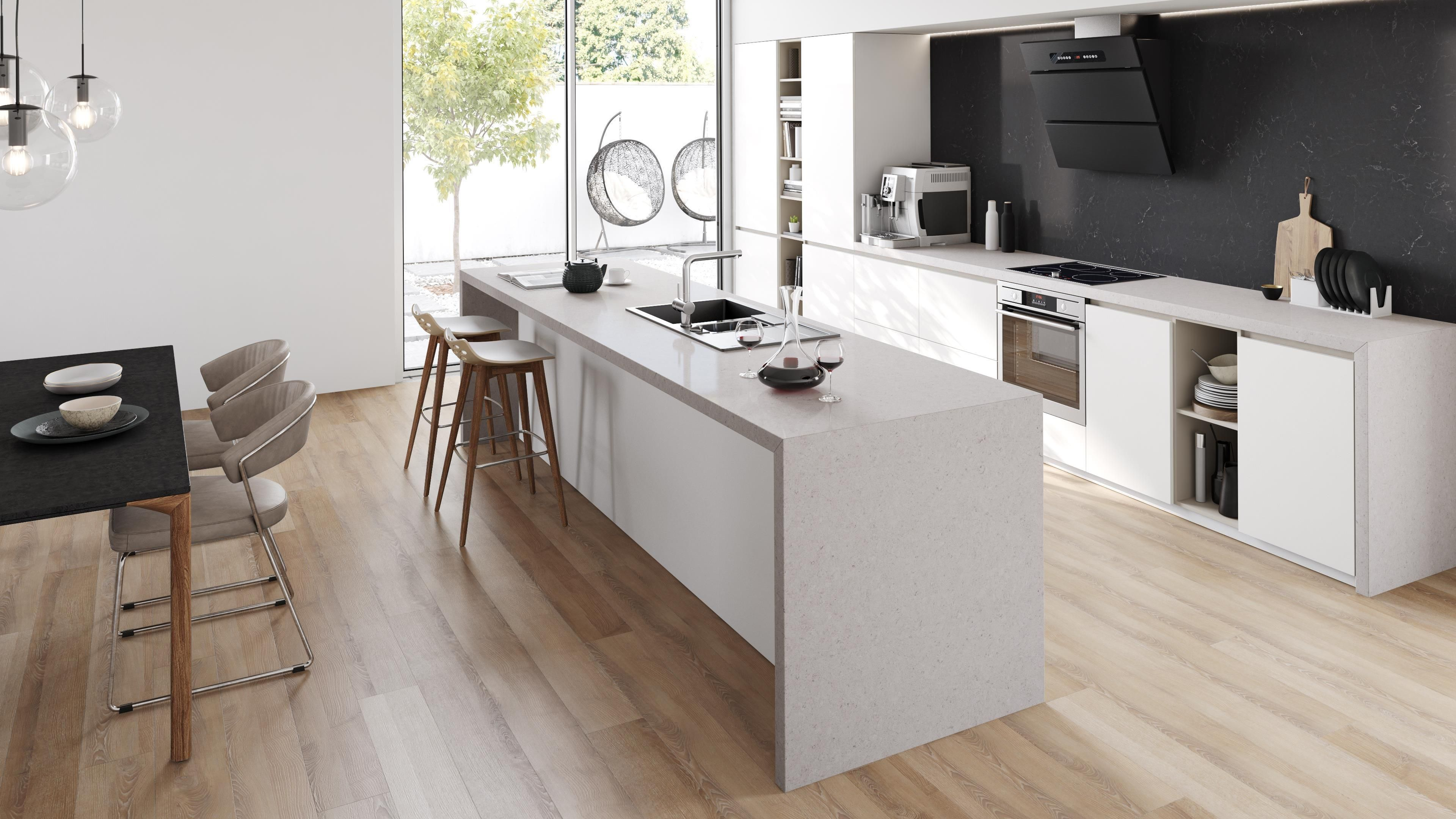 Grey Kitchen Benchtops Quantum Quartz Visualiser Ash Grey Kitchen в 2019 г