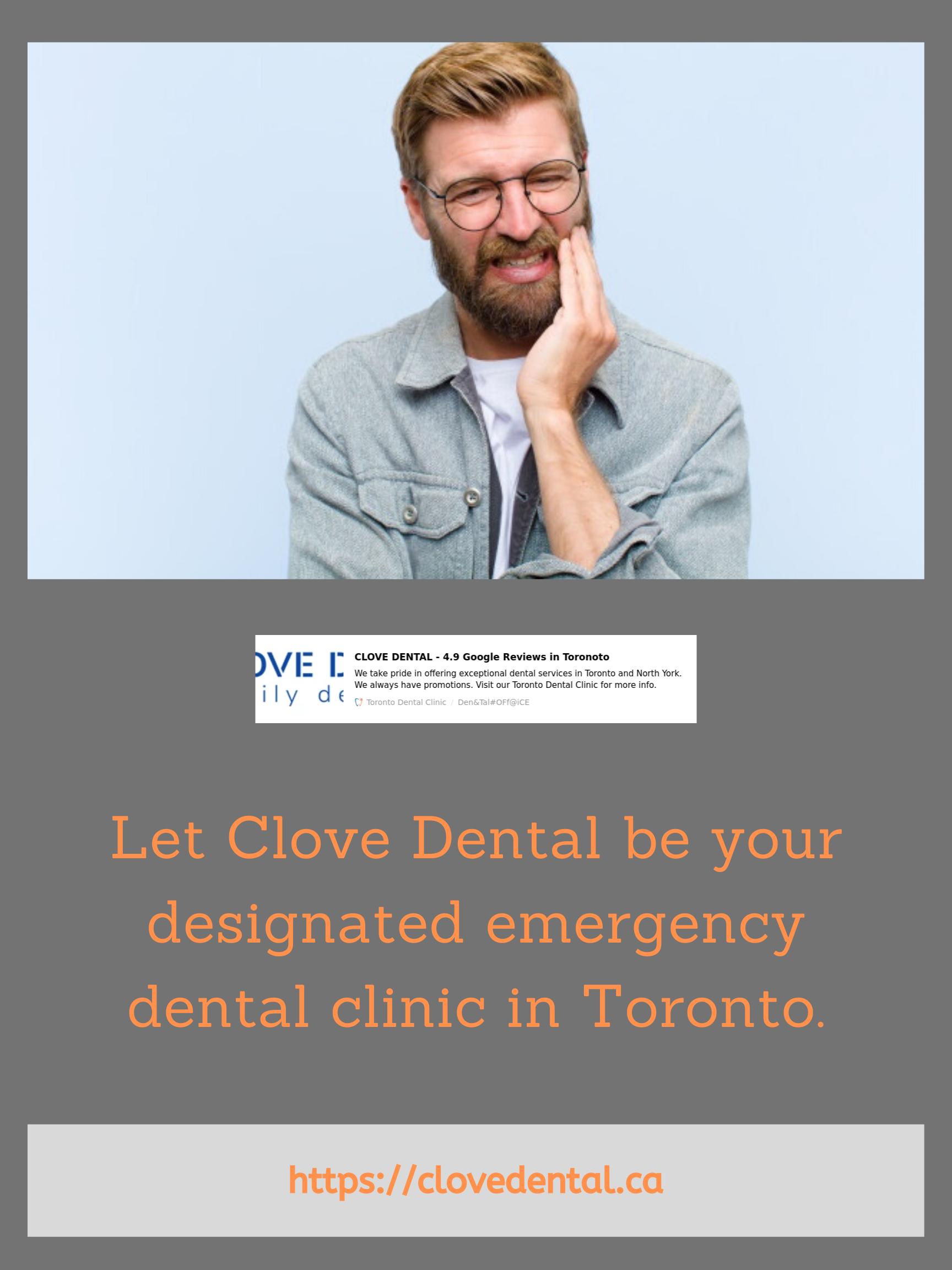 Emergency Dental Toronto Emergency dental care, Dental