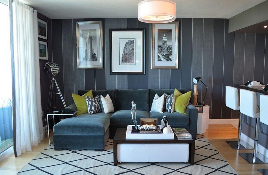 55 Incredible Masculine Living Room Design Ideas, Inspirations a - departamento de soltero moderno pequeo