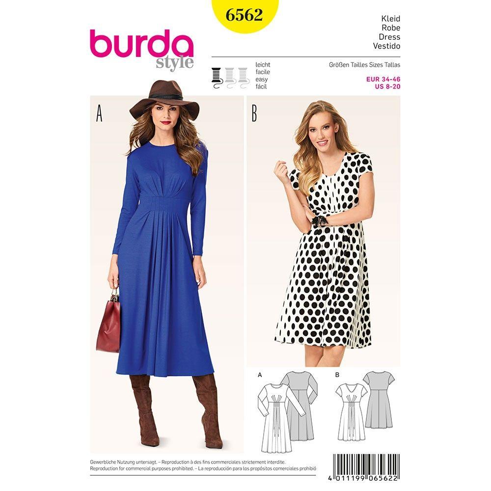 Pin by gelanda dunbar on sewing patterns pinterest burda misses dress burda sewing pattern 6562 jeuxipadfo Choice Image